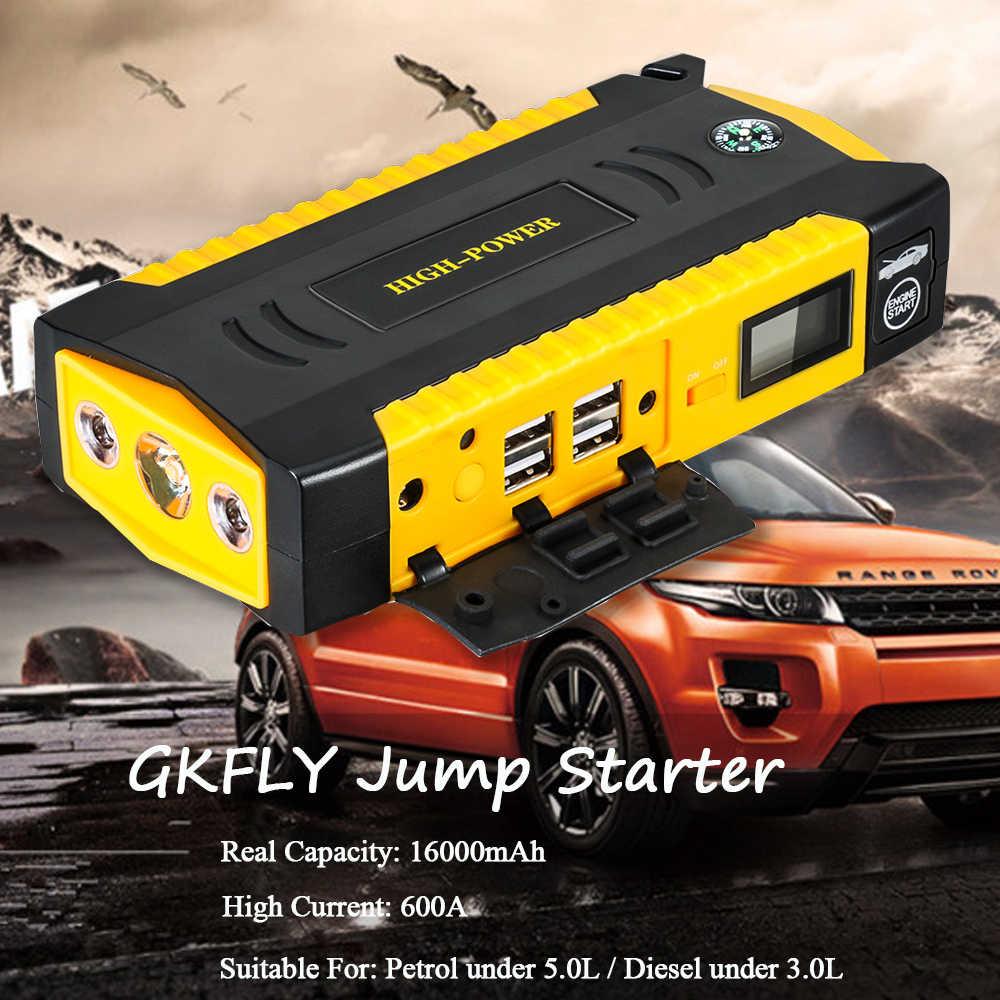 GKFLY urządzenie do uruchamiania awaryjnego samochodu Power Bank 600A przenośny wzmacniacz do akumulatora samochodowego ładowarka 12V urządzenie zapłonowe benzyna rozrusznik samochodowy Diesel Buster