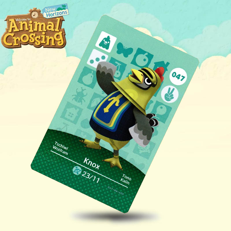 047 Knox  Animal Crossing Card Amiibo Cards Work For Switch NS 3DS Games