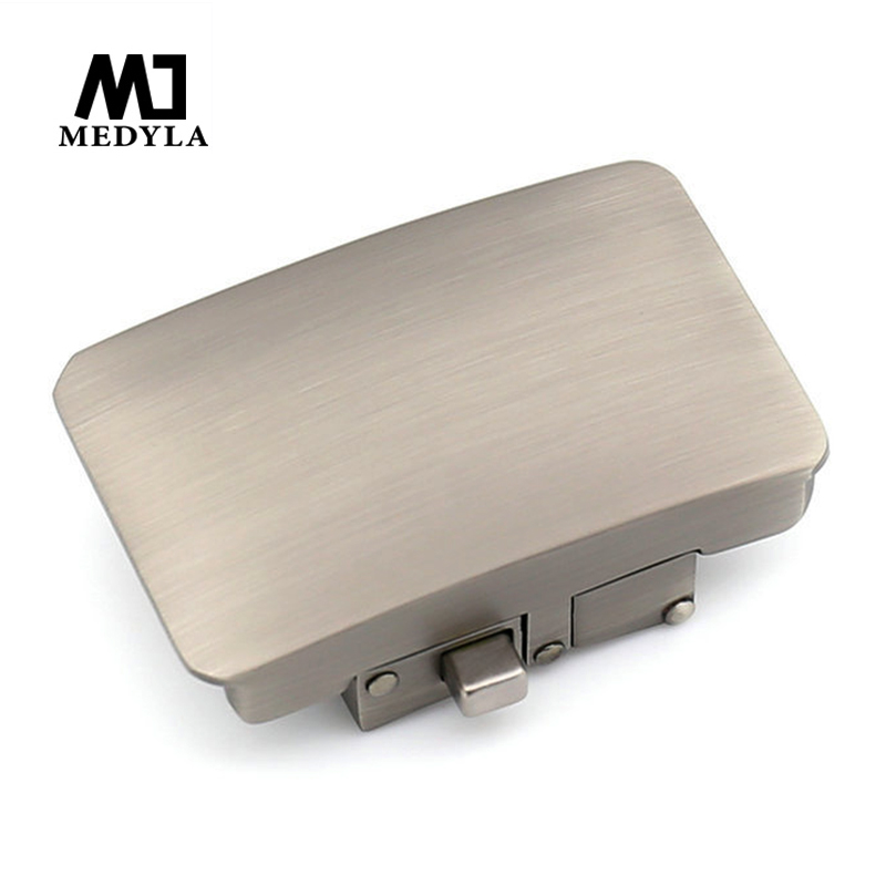 MEDYLA Hard Metal Belt Automatic Buckle For Men Inner Diameter 3.6cm Men's Button Pattern Belt Buckle Fashion Accessories