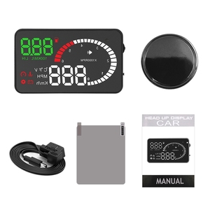 X6 Auto Car Hud Gps Head Up Display Hd 5.5 inch Speedometers Overspeed Warning Dashboard Windshield Projector(China)