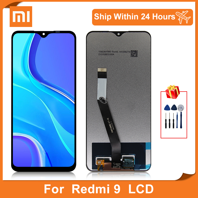 Оригинальный Для Xiaomi Redmi 9 ЖК-дисплей сенсорный экран дигитайзер для Redmi M2004 J19AG сборка запасные части