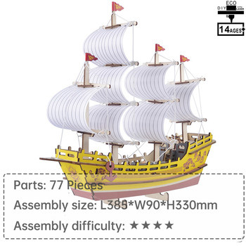 silk merchant ship wood toy 3d puzzle educational toys learning toys for children puzzle 1000 pieces jigsaw puzzle diy toys image