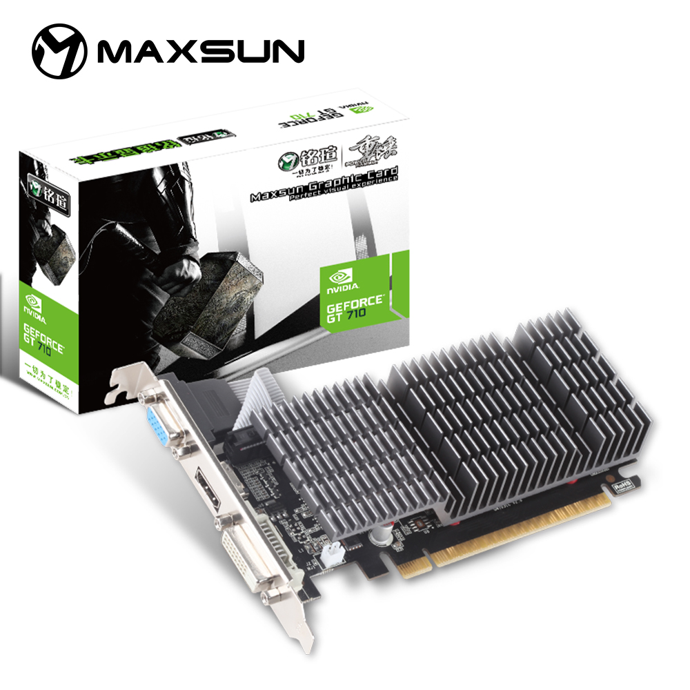 MAXSUN NVIDIA GT710 2GB GDDR3 Graphics Cards PCI PCIE2.0×8 Ready Video Card image