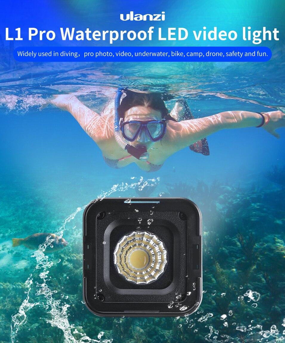 L1 pro Водонепроницаемый диммер светодиодный видео светильник