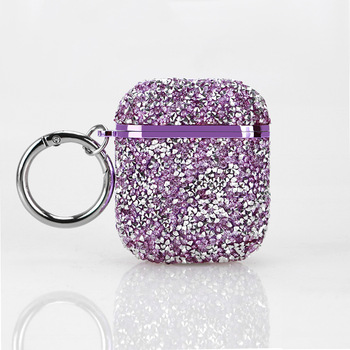 Sequined Airpod Case Cover For Women Diamante Airpods 1/2 Case Bling Bling Wireless Earbuds Box Case