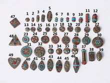 Handmade Nepalese Buddhist Tibetan Brass Metal & Clay Loose Craft Beads for Necklace Jewelry Making DIY