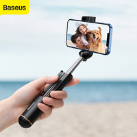 Baseus Selfie Stick pieghevole smartphone Mini pieghevole Wireless Bluetooth Selfie Stick per iphone 12 11 Xiaomi Huawei Samsung