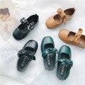 Новинка 2019 года; сезон весна-осень; кожаная обувь для девочек; обувь принцессы; детская однотонная обувь в стиле бобов; тонкие туфли для мале...