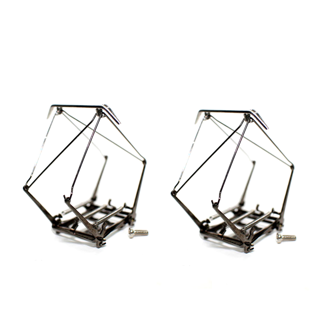 2Pcs HO Scale 1:87 Electric Traction Locomotive Pantograph Arm Bow Train Arm Bow Pantograph Alloy Can Be Powered
