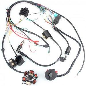 Для квадроцикла 50CC-110CC Mini 4-тактный ATV, Полный Жгут проводки CDI статор 6 катушек, полюс зажигания, Электрический четырехтактный велосипед для г...