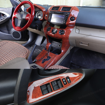Lsrtw2017 Wood Color Car Gear Panel Dashboard Vent Frame Window Cover for Toyota Rav4 2006 2007 2008 2009 2010 2011 2012 2013