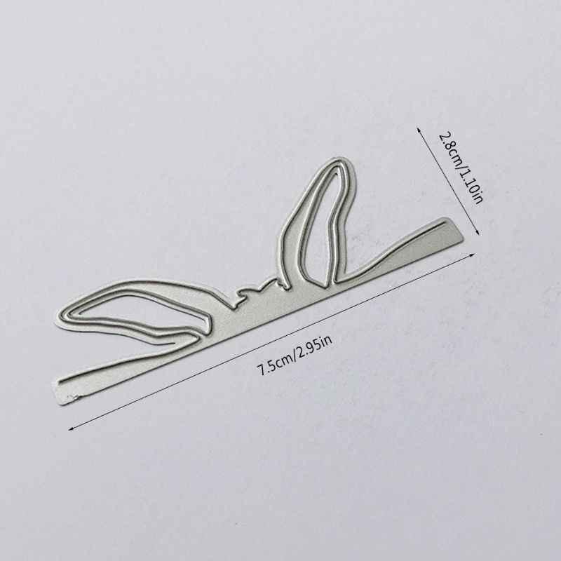 Coelhinho da páscoa orelha de corte de metal morre estêncil scrapbooking diy álbum carimbo de papel cartão de gravação decoração artesanato novos dados para 2020