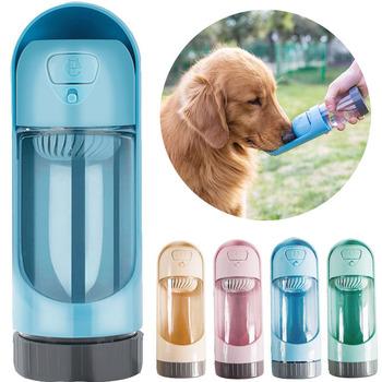 1PC przenośna butelka wody dla psa podajnik dla małych i dużych psów produkt dla zwierząt podróży szczeniak miska do picia na świeże powietrze dla zwierząt domowych dozownik do wody tanie i dobre opinie Dogbaby Butelki wody 300ml Uniwersalny Z tworzywa sztucznego Other