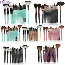 Lemoda 18Pcs Make-Up Kwasten Set Wenkbrauw Highlighter Powder Foundation Oogschaduw Borstel Cosmetica Gereedschap Makeup Brush(China)