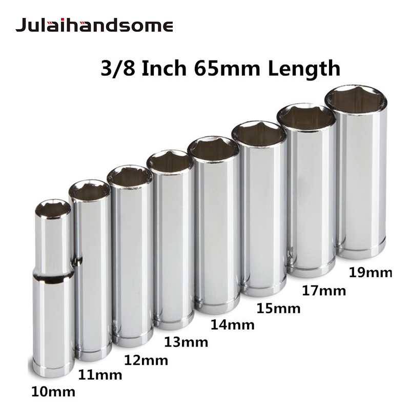 Nuovo set di bussole profonde per unità da 8/8 pollici professionale da 8PC, metrico, 10 mm - 19 mm