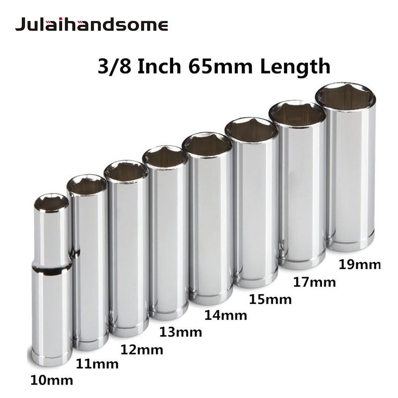 Nieuwe professionele 8-dlg 3/8 inch diepe doppenset, metrisch, 10 mm - 19 mm