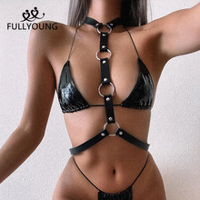 Fullyoung – harnais en cuir pour femmes, Lingerie érotique, jouets pour adultes, ceintures, bretelles, Lingerie, fétiche BDSM