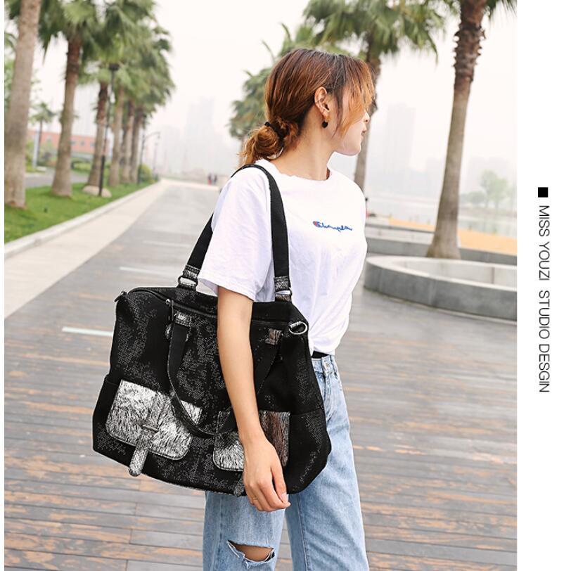 Große Kapazität Leder Taschen für Frauen Reise Messenger Taschen Große Tote Handtasche Reisetasche - 3