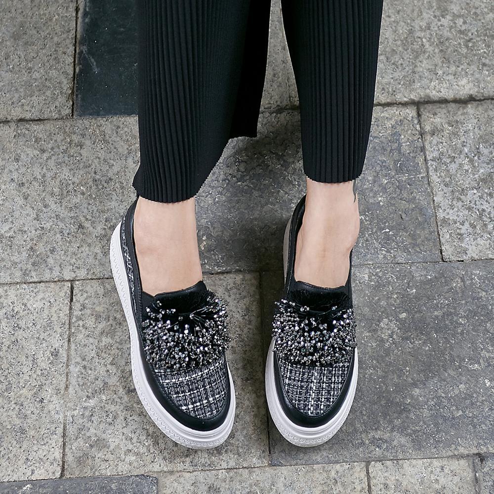 أحذية امرأة أحذية رياضية النساء 2019 منصة الأزياء مصمم الجلود حذاء خفيف النساء 6 سنتيمتر-في أحذية مطاطية نسائية من أحذية على  مجموعة 2