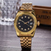 diamond watch women luxury designer lady watches ladies dress female Folding buckle gold wristwatches clock gift for girl(China)