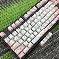 Cherry Blossom Keycaps полный набор механических клавишных колпачков PBT 5 для сублимации лица Keycap для всех Sakura Keycap Set