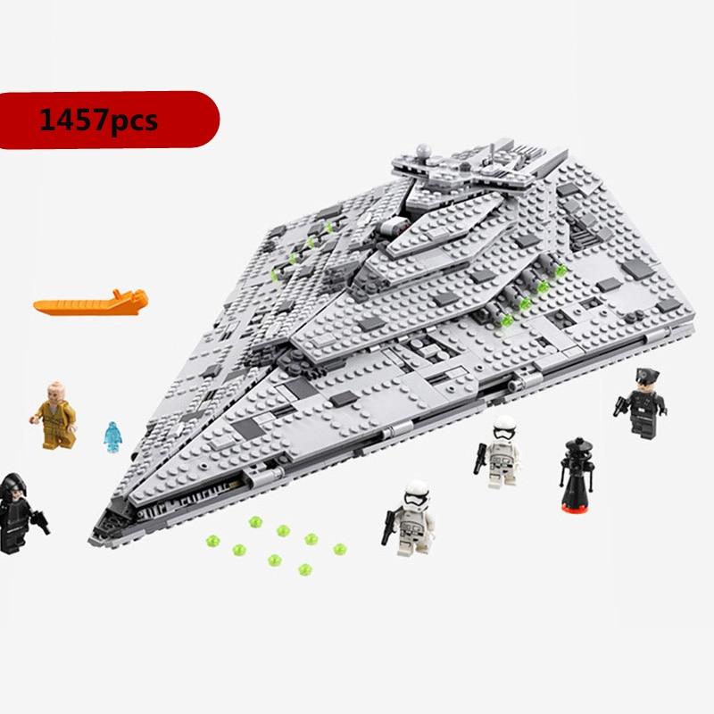 10900 Imperial TIE Fighter 10901 First Order Star Destroyer X-wing Model Block Bricks Toys Legoinglys Star Wars 75190 Xmas Gift