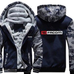 Image 1 - Obsługi Facom bluzy z kapturem kamuflaż rękaw kurtka z kapturem na zamek zima polar obsługi Facom Professionnels narzędzia bluza