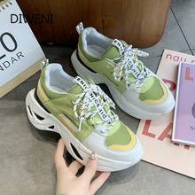 Sneakers Women Spring Thick Bottom Daddy Shoes Thick Bottom Round Toe Breathing Leisure Women Shoes luxury shoes women designers