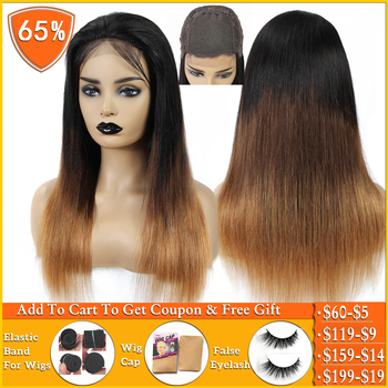 T1B/4/30 honey blonde ombre human hair wig Brazilian straight lace closure wig Human Hair Wigs for women 150% Density non-remy