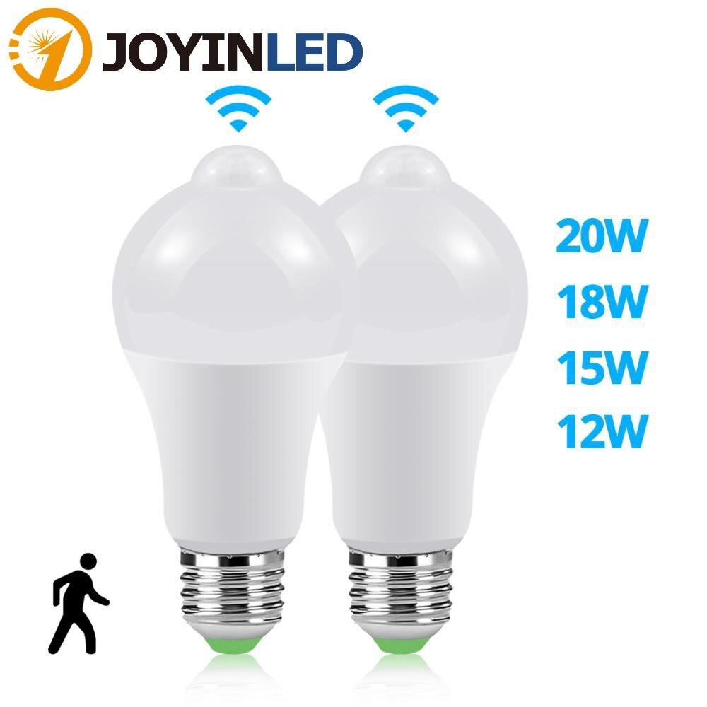 10pcs PIR Motion Sensor LED Bulb E27 12W 15W  20W AC85-265V  Motion Sensor Lamp Dusk Dawn Night Light for Home Kitchen Lighting