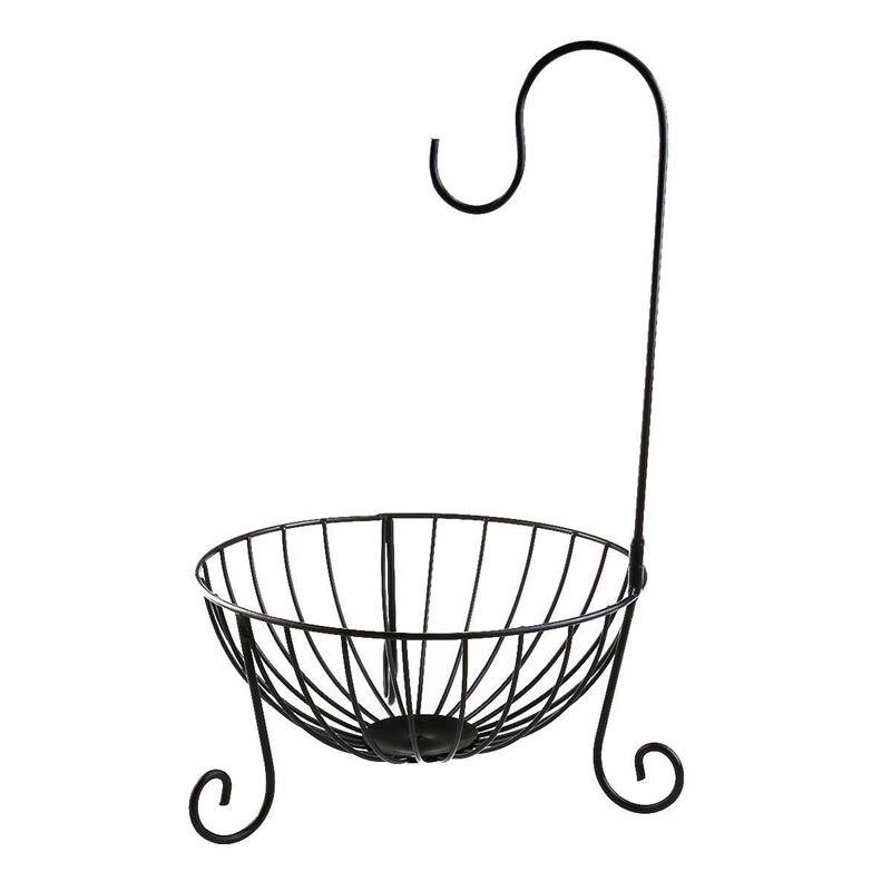 HOT Practical Tableware Metal Fruit Basket Detachable Banana Hanger Storage Holder Hook