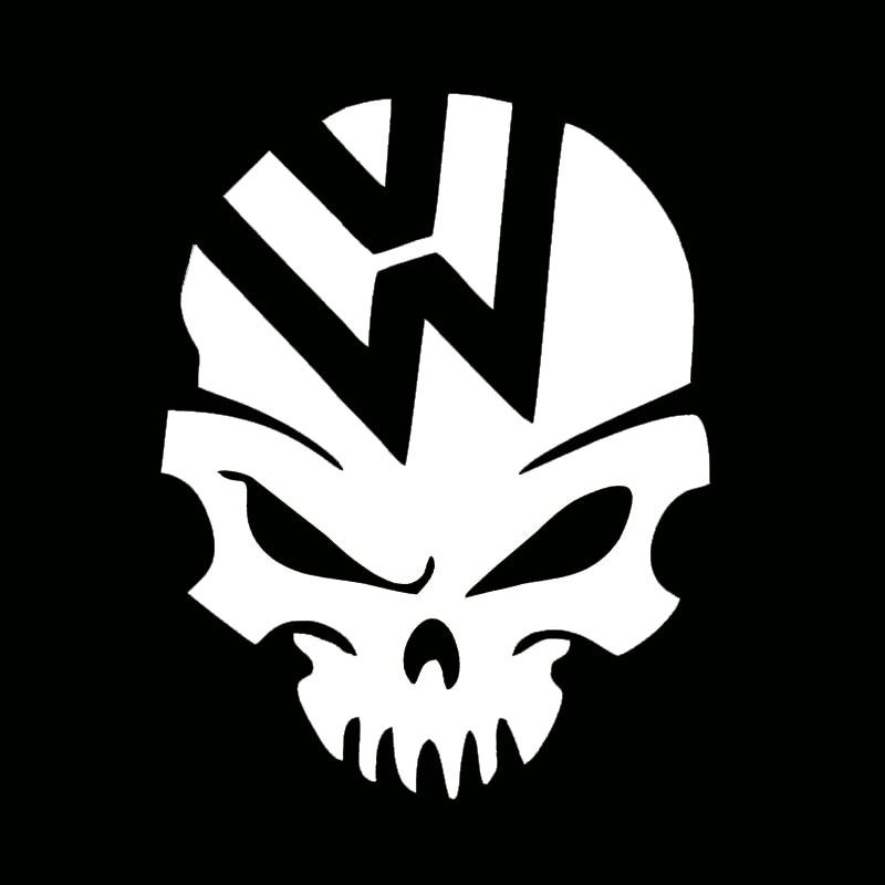 Skull Ghost Rider Car Sticker Demon Decal Fuel Tank Cover Door Window Bumper Trunk Motorcycle Helmet For Volkswagen VW Golf Polo