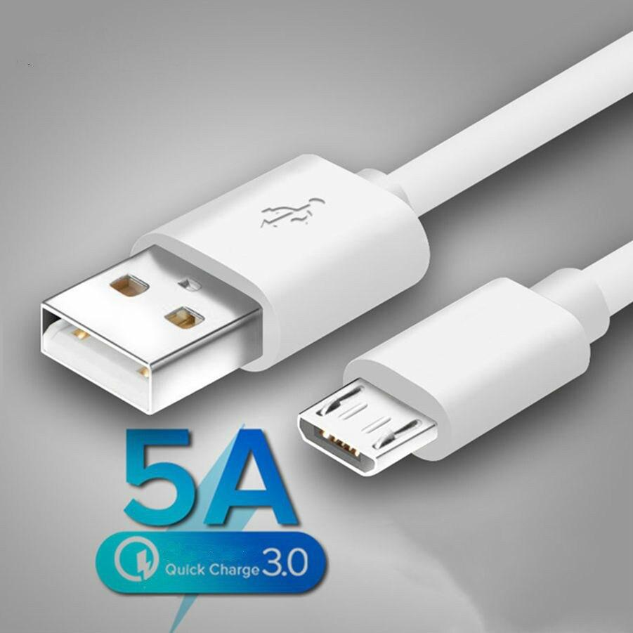 5A Micro USB кабель 1 м 2 м зарядное устройство для синхронизации данных и быстрой зарядки для Samsung S7 Huawei Xiaomi Note планшетный ПК с системой андроида и ...