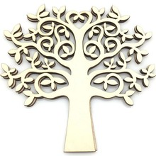 10pcs wooden Family Tree for crfats tree life heart shaped craft supplies wood craft 15cm(China)