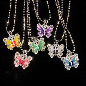 Kpop Nieuwe Kawaii Egirl Retro Esthetische Kristal Vlinder Hanger Rvs Ketting Voor Vrouwen Meisje Harajuku Goth Sieraden(China)