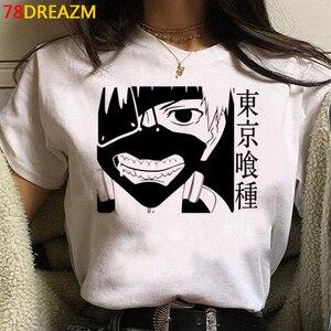 Токийский Гуль одежда для мужчин 2021 пара ulzzang белая футболка kawaii летний топ белая футболка kawaii