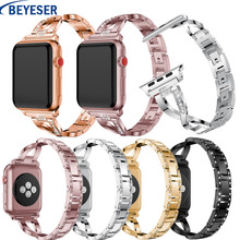 strap genuine leather bands for apple watch 38mm 42mm 40mm 44mm smart watches band for i watch series 5 4 3 2 1 women s bracelet Stainless Steel Watch Bands For Apple Watch Band 38mm 40mm Link Bracelet Smart Watch Strap For watch 42mm 44mm Series 5 4 3 2 1
