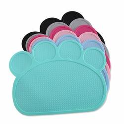 Waterproof Pet Mat for Dog Cat Silicone Pet Food Pad Pet Bowl Drinking Mat Dog Feeding Placemat easy Washing