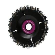 22 зуба 4 дюйма фиолетовый диск точильщика и цепь тонкий срез набор для угла 100/115 деревообработка, резьба шлифовального Кютт