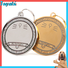Personalized Dog ID Tags Engraved Metal Tag for Small Large Dogs Name Collar for Dog Cat Puppy Pet Accessories Customized Name personalized dog collar nylon print dog collars customized puppy pet collar engraved name id for small medium large big dogs pug