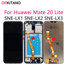 Дисплей 6,3 дюйма для Huawei Mate 20 Lite, сенсорный ЖК дисплей Mate20 Lite, сенсорный экран для Huawei Mate 20 Lite, дисплей с рамкой