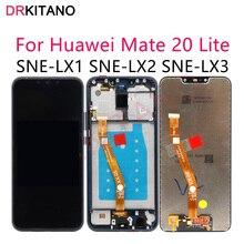 """6.3 """"ekran için Huawei Mate 20 Lite LCD ekran Mate20 Lite SNE LX1 dokunmatik ekran için Huawei Mate 20 Lite çerçeve ile ekran"""