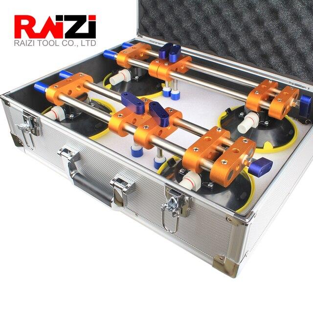 Raizi 2 Pcs 원활한 조인트 평준을위한 알루미늄 케이스가있는 스톤 솔기 세터 6 인치 화강암 수조 수동 설치 도구