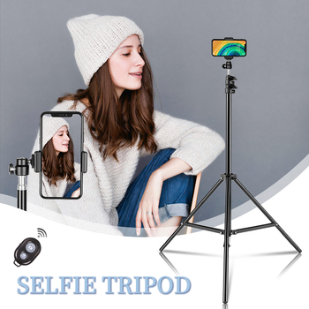 1/4 Screw Head Selfie Stick Tripod Extendable Tripod Stand with Bluetooth Remote for Digital Camera Phone Heavy Duty Aluminum