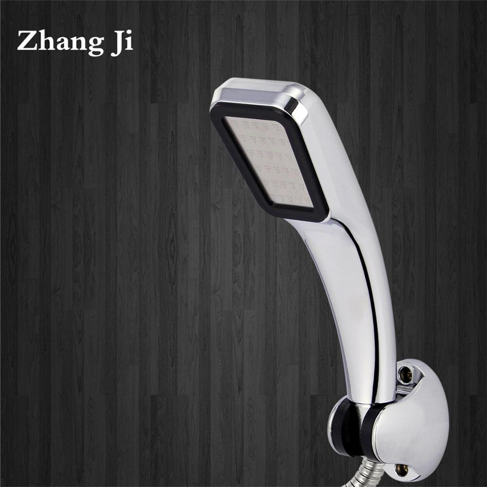 ZhangJi Hot Sale 300 Holes Shower Head Water Saving Flow With Chrome ABS Rain High Pressure spray Nozzle bathroom accessories