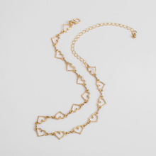 Fashion Sweet Love Heart Choker Necklace Hollow Statement Cute Gold Jewelry Friendship Gifts