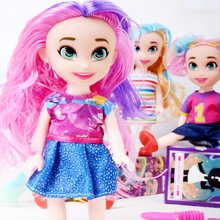 15CM Big Eyes Surprise Fashion Girl Doll Cute Beauty Face Girl Dolls Funny Colorful Long Hair Surprise Toys Gift for Children free shipping big discount rbl 299diy nude blyth doll birthday gift for girl 4colour big eyes dolls with beautiful hair cute toy