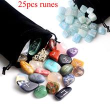 25 sztuk wolność naturalna skała kwarcowa runy kryształowe spadł kamień wróżbiarstwo fluoryt Rune wróżenie uzdrawianie Reiki prezent wystrój tanie tanio FAIRY FENG SHUI CHINA