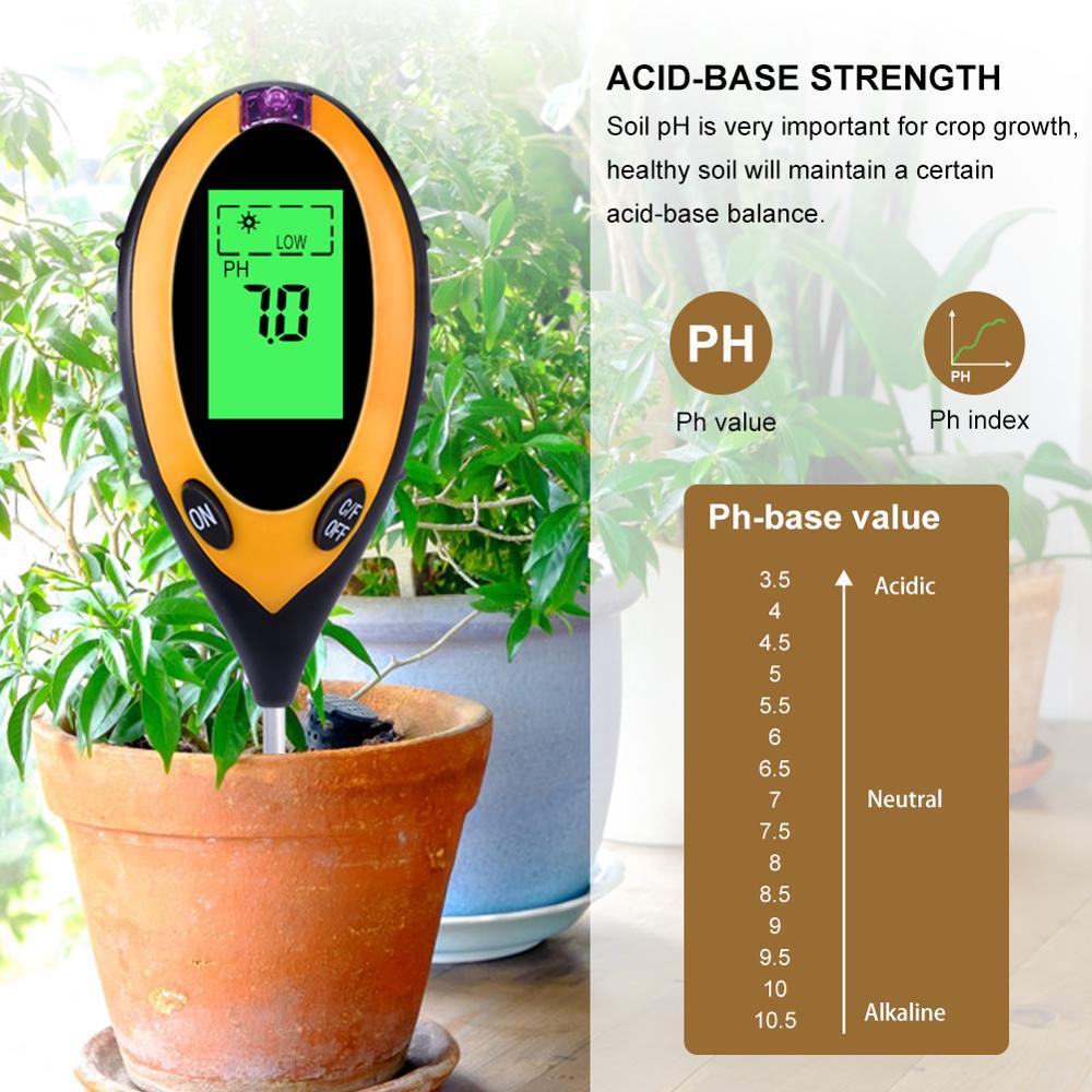 Image 4 - 4 in1 Plant Earth Soil PH Moisture Light Soil Meter Thermometer  Temperature Tester Sunlight Tester For Gardening Farminglight  standardtester perfumelight foundation make up