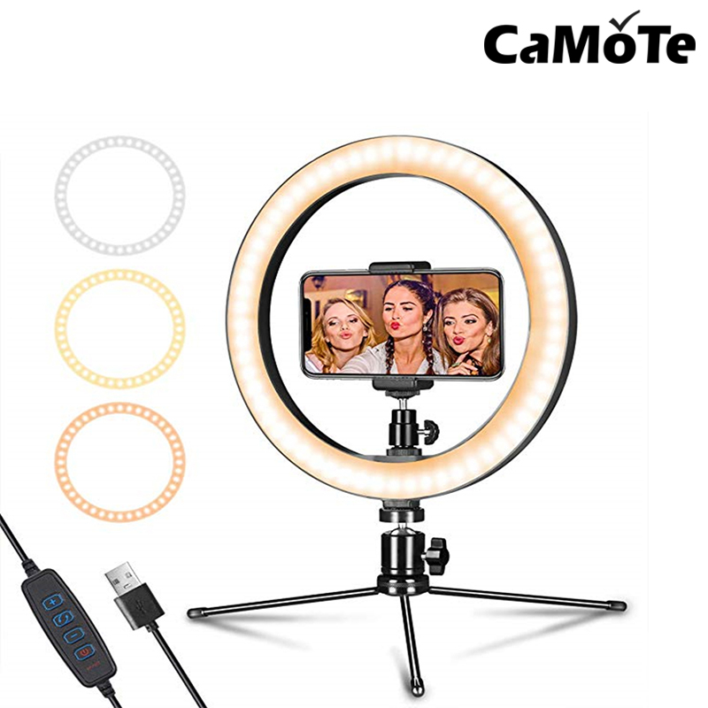 6 Inch to 10 inch USB Live Selfie light Stick Beauty  tabletop holder Table Top Lamp Camera Video Led Circle Ring Light